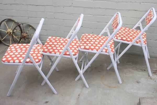 Vintage Samsonite Refurbed Folding Chairs  $75