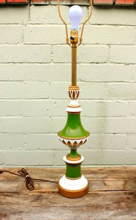 Emerald Green Vintage Table Lamp $40