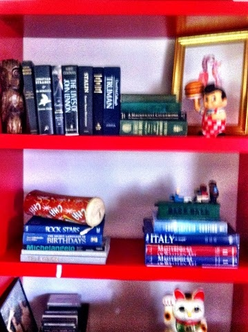 My red Ikea bookcase is back to normal.