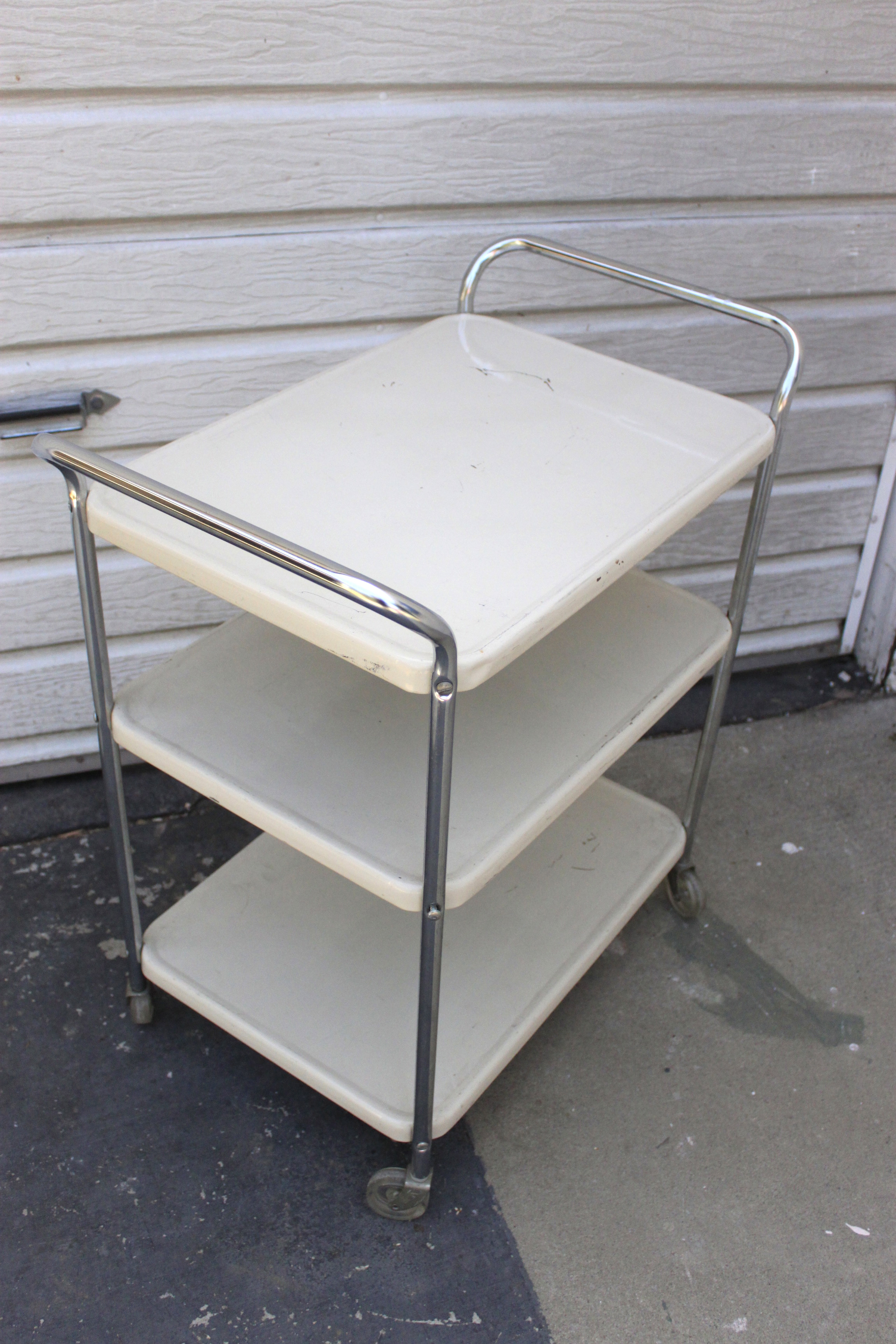 Metal Bar Cart Queen B Vintage Studios