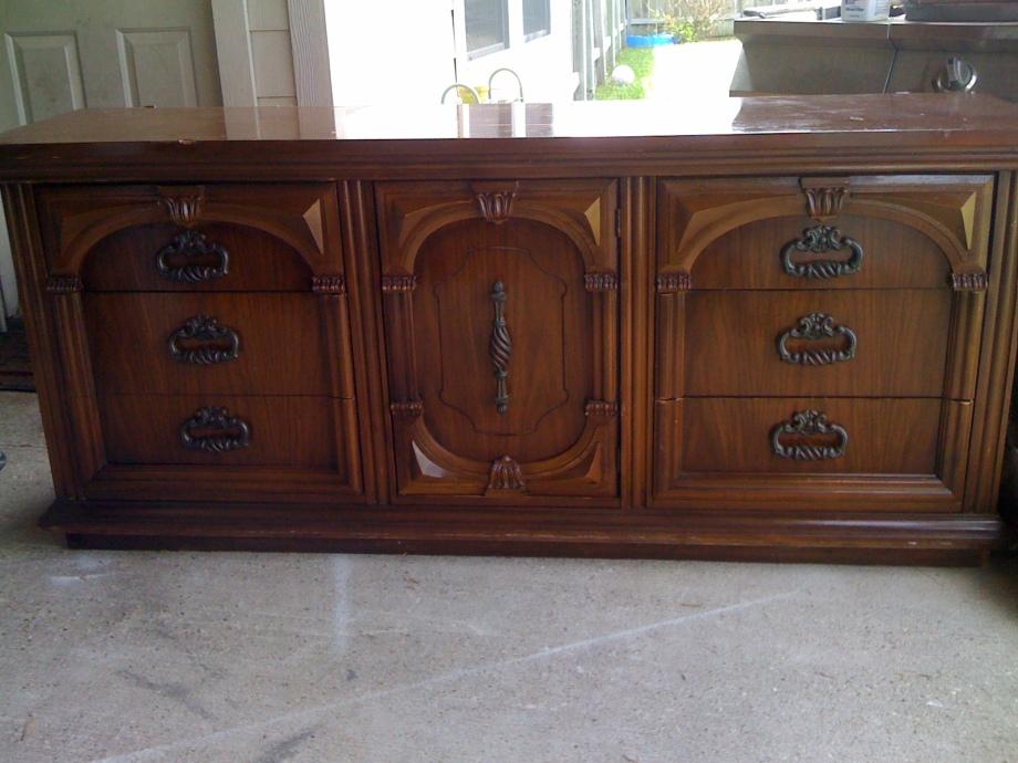 long brown dresser