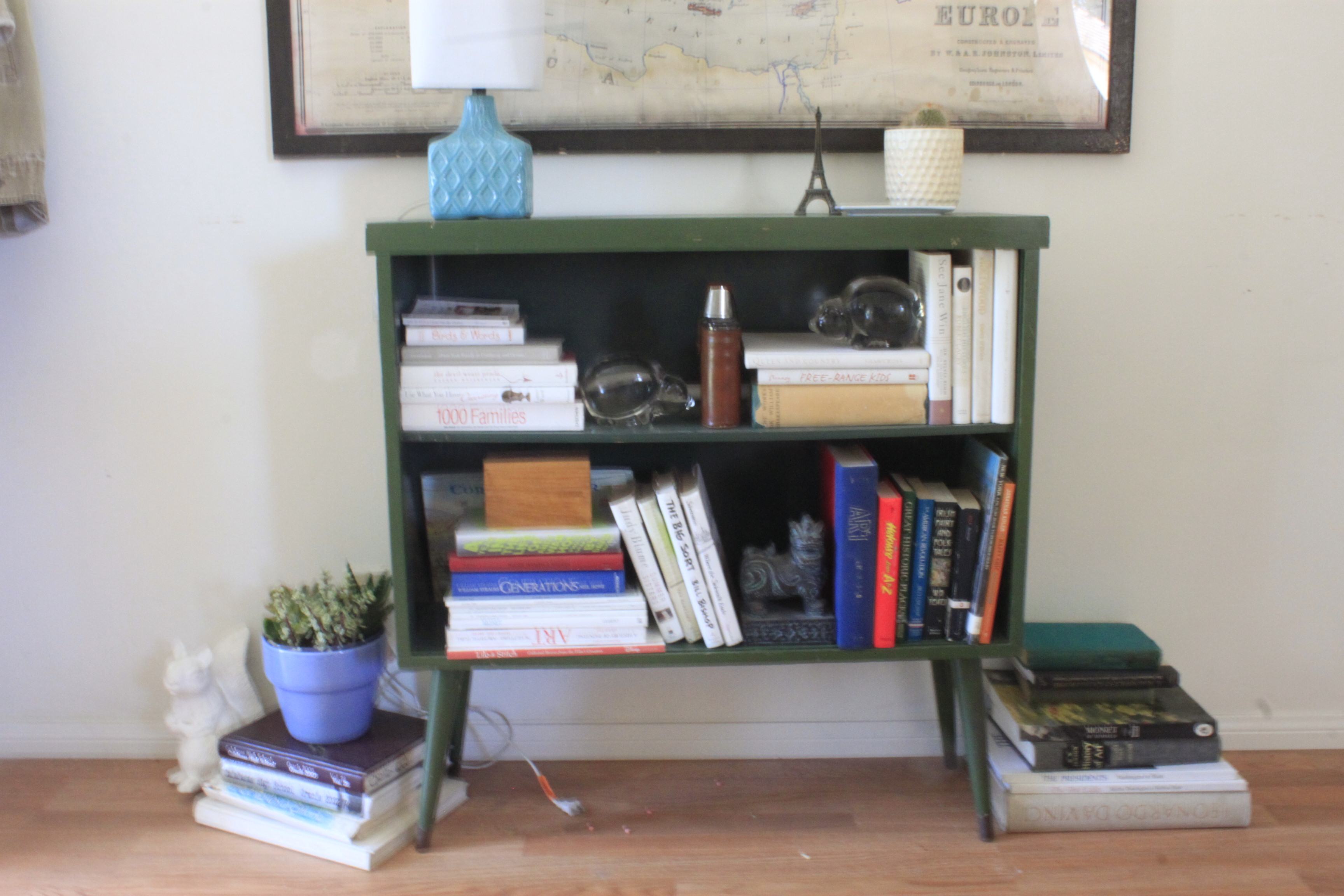 "^ ang"" Mid entury Modern Bookcase Make-Over  Queen B Vintage Studios"