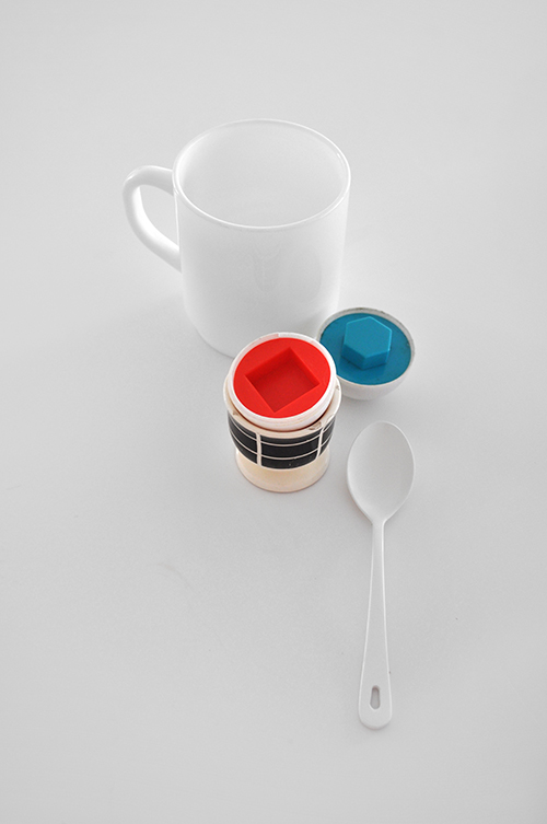 white milkglass mug waechtersbach eggcup powdercoated spoon copy