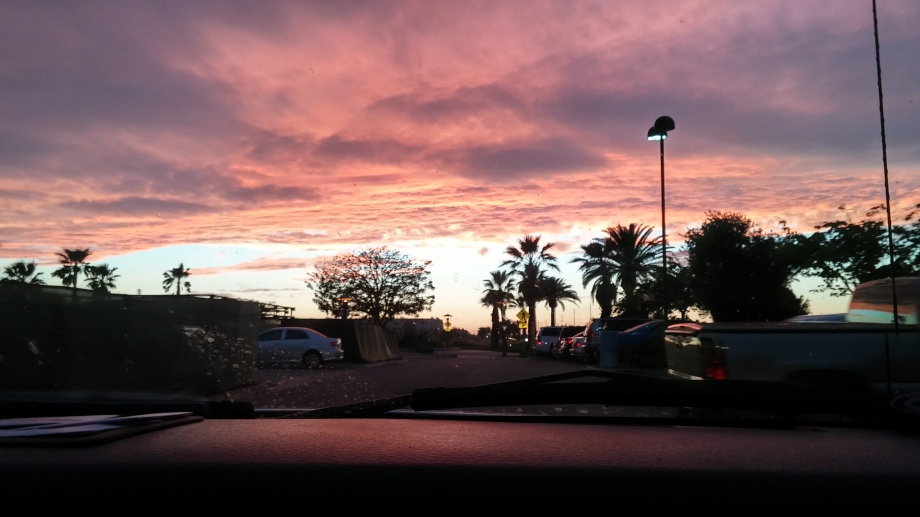 The view of sunset from more local Vons parking lot.