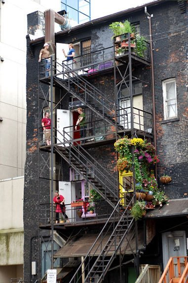 Colorful Lush Fire Escapes