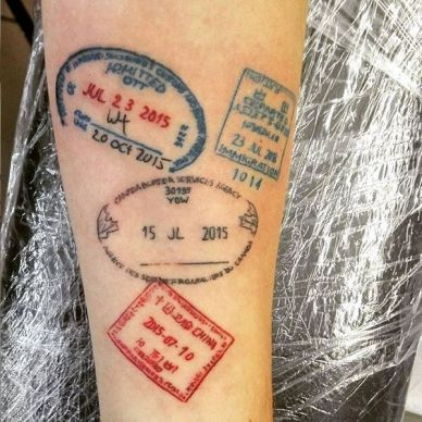 Fun Travel Tattoos